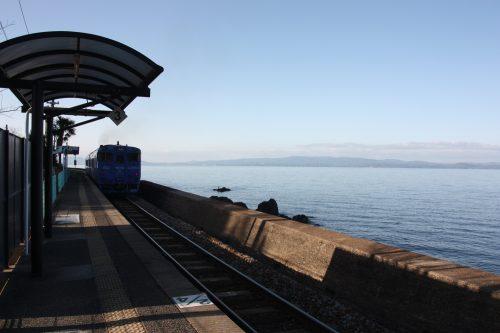 Sea Side Liner along the Omura Bay, Nagasaki, Kyushu, Japan.
