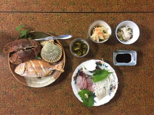 Dinner at Shimizu Marine Inn, Saiki, Oita