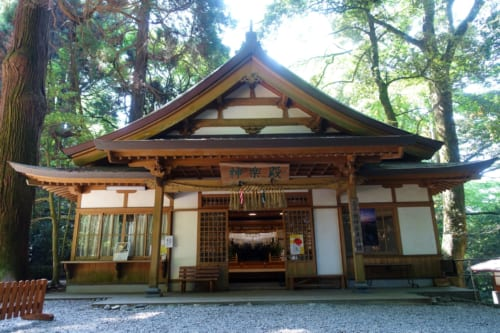 The Shrine where Kagura dance is being held every evening