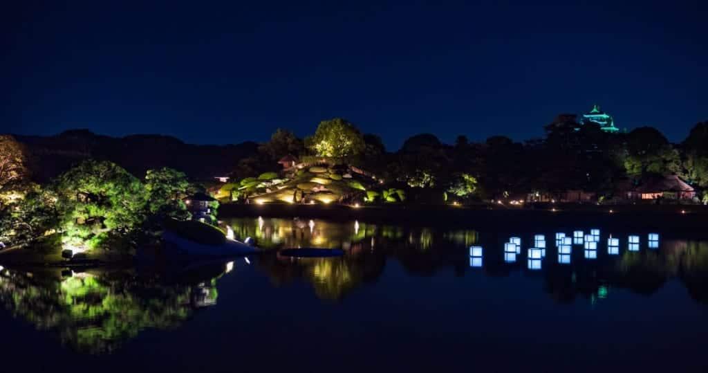 Okayama Korakuen Summer Fantasy Illumination