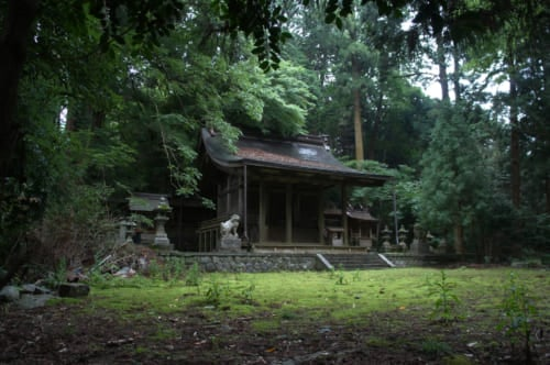 The small sanctuary that is seen in the film Hanezu, surrounded by trees and mosses. Asuka, Nara