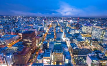 Sapporo City at night.