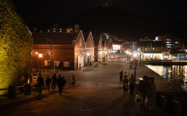 Hakodate City at night.
