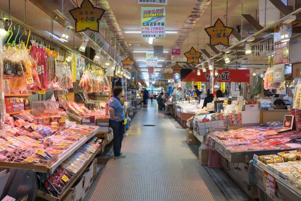 The morning market of Hakodate.