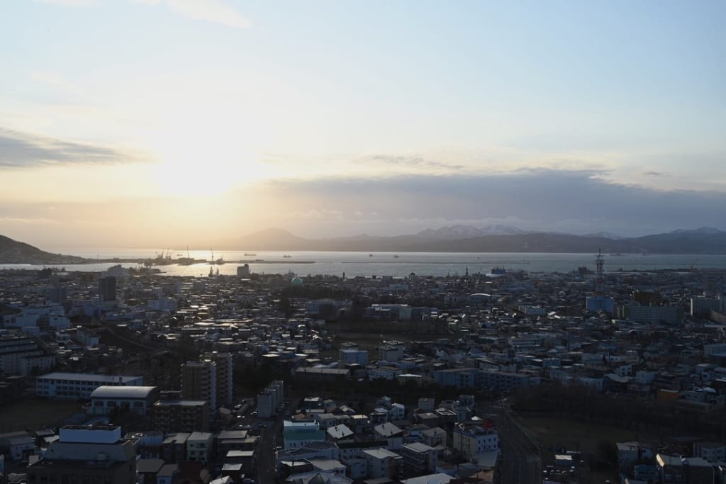 View over the Tsugaru Strait from Goryokaku Tower