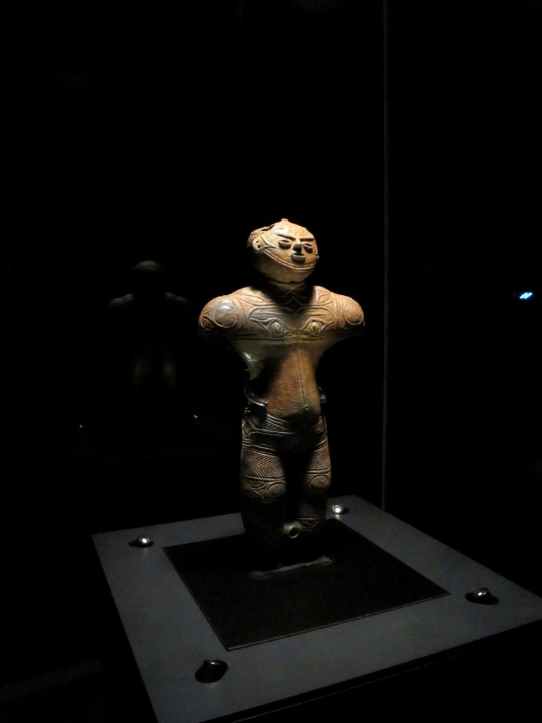Chuku-dogu figure on display at Hakodate Jomon Culture Centre