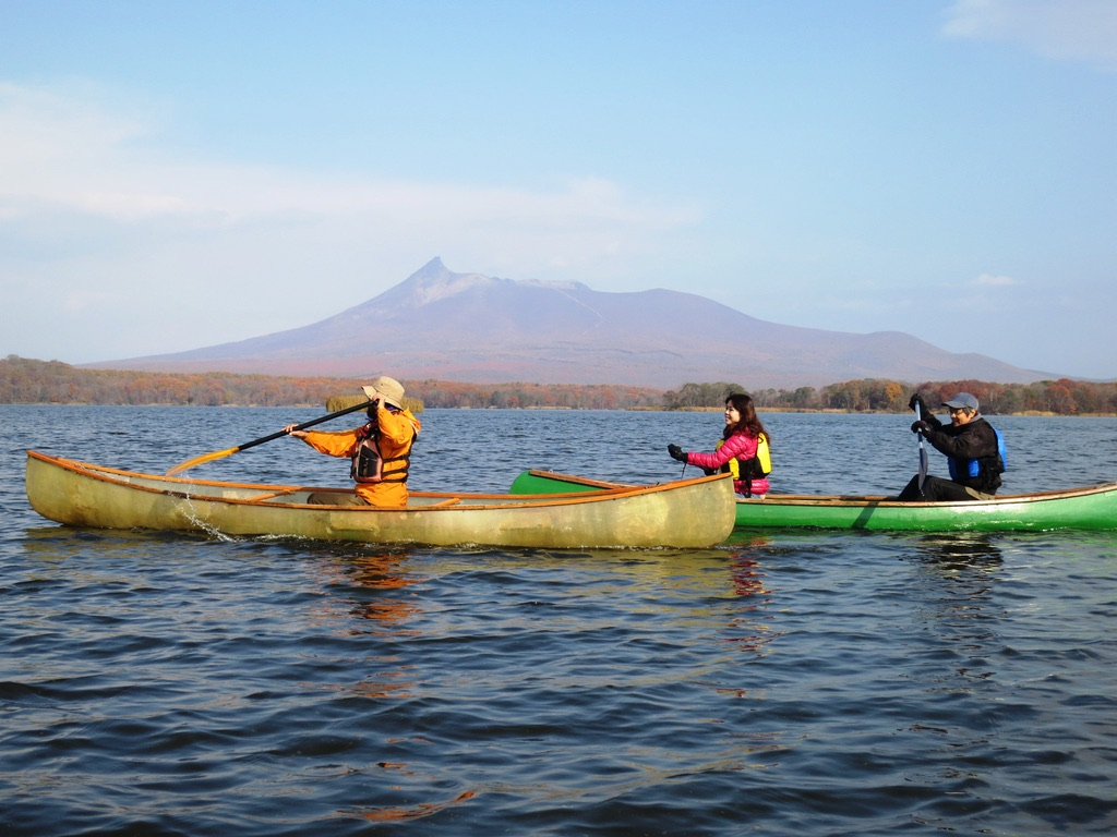 Canoeing on Lake Onuma